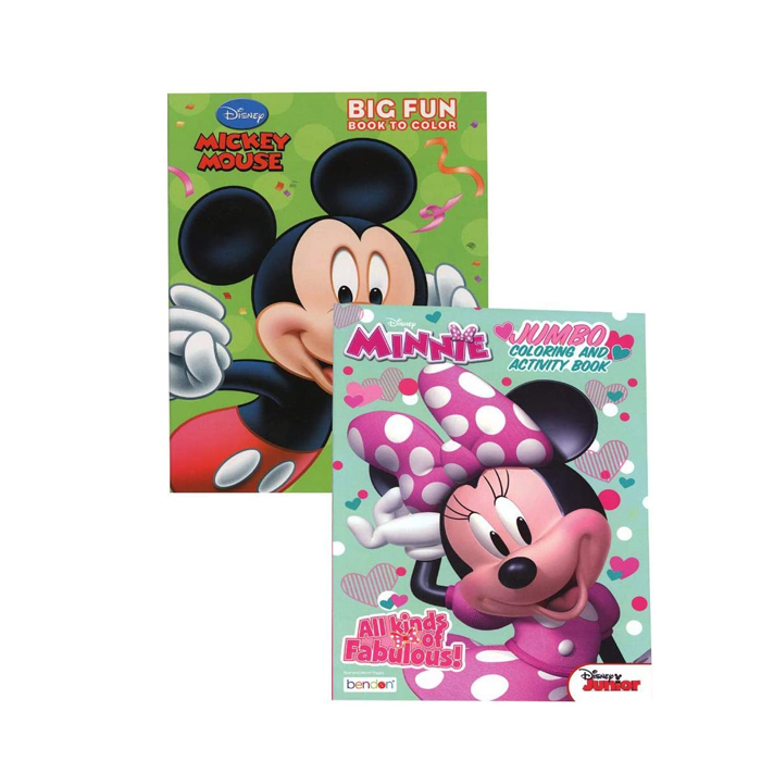 Mickey Minnie Coloring Book 80 Pages Assorted Maison Handal